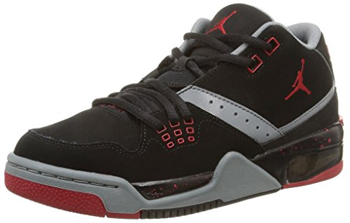 NIKE Jordan Flight 23 Bg, Scarpe Sportive, Uomo Black/Gym Red-cool Grey-white