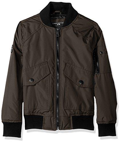 - Urban Republic Boys' Little Ballistic Bomber Jacket, Olive, 7