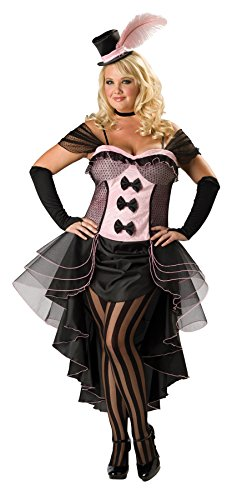 [UHC Women's Burlesque Babe Outfit Fancy Dress French Saloon Plus Size Costume, 2XL] (Burlesque Fancy Dress Plus Size)