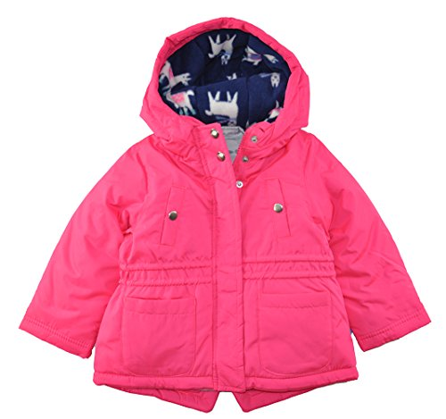 Carter's Baby Toddler Girls' 4 In 1 Heavyweight Systems Jacket, Pink Llamas, (4in 1 Winter Jacket)