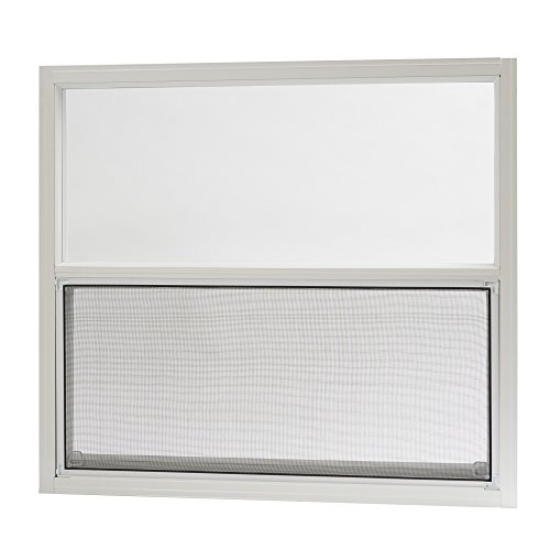 (Park Ridge Products AMHW3027PR Park Ridge 30 in. x 27 in. Aluminum Mobile Home Single Hung Window - White,)