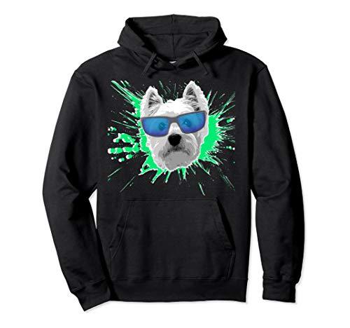 (Westie Splash Design Pullover Hoodie)