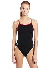 Speedo Big Girls' Race Endurance+ Polyester Flyback Training Swimsuit