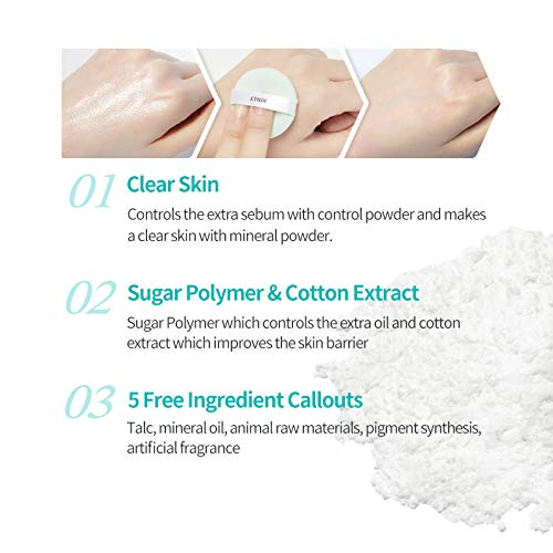 ETUDE HOUSE Zero Sebum Drying Powder - Oil Control No Sebum Powder with 80% Mineral, Makes Skin Downy 3