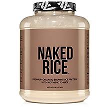 NAKED RICE - Organic Brown Rice Protein Powder – Vegan Protein Powder - 5lb Bulk, GMO Free, Gluten Free & Soy Free. Plant-Based Protein, No Artificial Ingredients - 76 Servings
