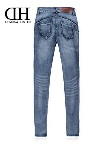 Anteriori Mode Con Per Casual Denim X Dh6003 Jeans Marca Donna Bolawoo Slim Blau Pantaloni Qualità Fit Stretch Di Cerniera Tasche Alta fqxwgCn