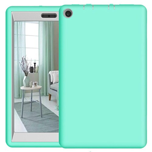 For 8Inch Amazon Kindle Fire HD 8 Tablet Case 2017, Iusun Shockproof Hybrid Case Protective Shell Cover (A) (Fire Ipazzport Tv Amazon Remote)