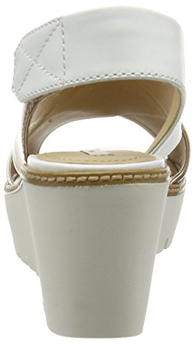 Geox D Domezia A - Sandalias para mujer Multicolor (Rose Gold / White)