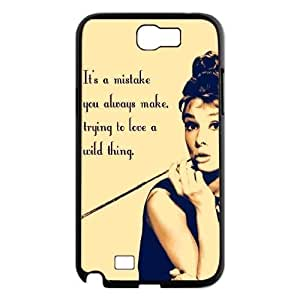 Audrey Hepburn Quotes New Fashion DIY Phone For Case Iphone 4/4S Cover ,customized ygtg-781422