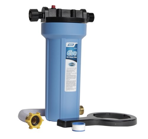 Camco EVO Premium RV/Marine Water Filter, Greatly Reduces Bad Taste, Odor, Sediment, Bacteria, Chlorine And Much More (40631) by Camco