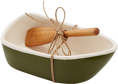 Mud Pie 4854000G Row Boat Dip Cup Set, Green