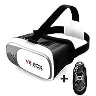 ShangKe 3d vr Lunettes de Réalité Virtuelle tête série lunettes 3d film vidéo jeu pour téléphones intelligents, l'iphone 6 68, Samsung, s7, s6 edge, Bluetooth contrôleur
