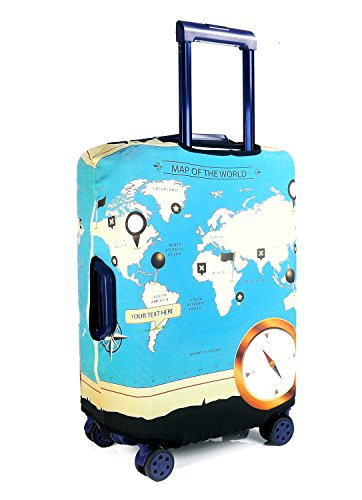Togedi luggage protector creative world map design suitcase togedi luggage protector creative world map design suitcase protective anti scratch luggage cover s gumiabroncs Images
