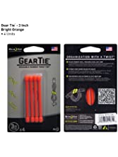 Nite Ize GT3-4PK-31 Gear Tie Reusable 3-Inch Rubber Twist Tie, 4-Pack, Orange