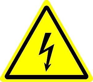 Etiqueta adhesiva con señal de seguridad ISO, advertencia