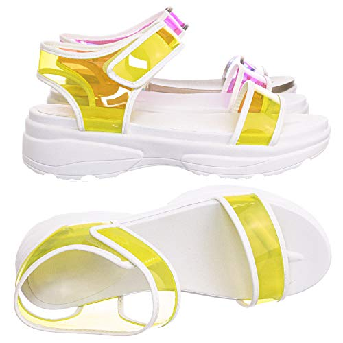 Aquapillar Sporty Lucite Clear Sandal - Women Neon, used for sale  Delivered anywhere in USA