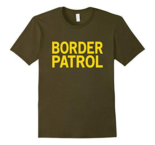 Border Patrol Halloween Costumes (Mens Halloween Costume BORDER PATROL Agent Shirt XL Olive)