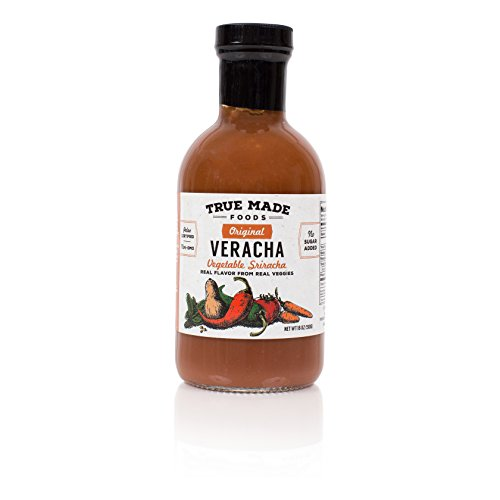 True Made Foods Original Veracha, Vegetable Sriracha, Whole 30 Compliant, Paleo Certified, Non-GMO, Sugar-free, 18 oz. Glass Bottle (Foods Market True)