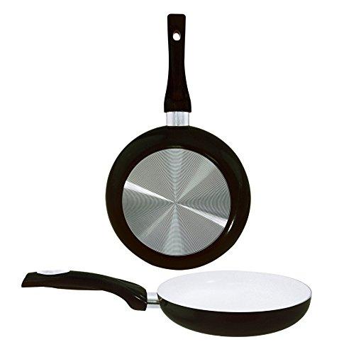 EURO-HOME Ceramic Coated Fry Pan, 9.5'', Black