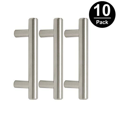 Gobrico GB201HSS64 Satin Nickle 64mm Cabinet Pull Handle for Furniture Drawer Cupboard Dresser T-bar 10 Pack ()