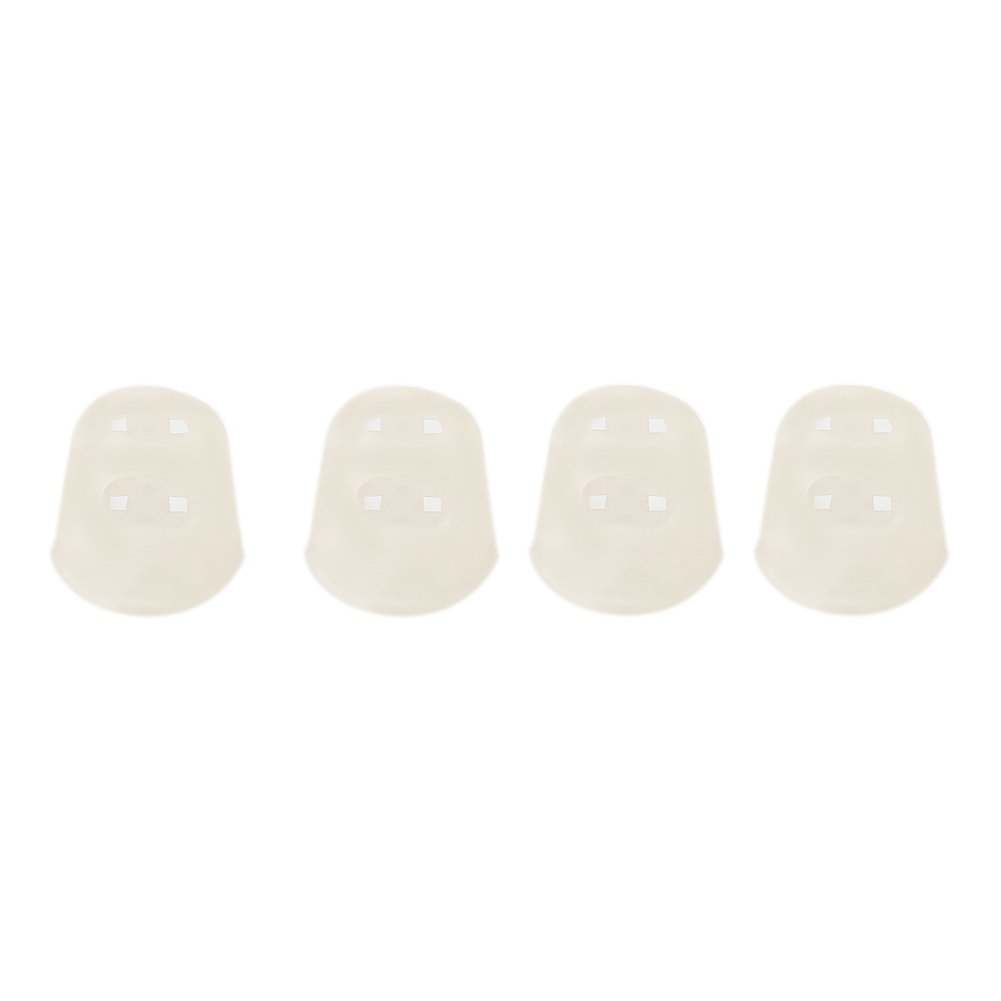 Forfar 4 Pcs Guitar Fingertip Protector Silicone Reusable Guitar Ukulele Bass Fingertip Protectors Thumb Finger Guards Protection For Guitarist FF-152677_7