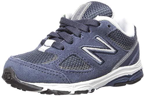 - New Balance Boys' 888v2 Running Shoe, Navy/Grey, 3 W US Infant