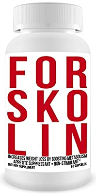 Verified Forskolin Extract 250mg 60 Capsules - All Natural Organic Maximum Strength Herbal Weight Loss Pills Appetite Control & Suppressants Analyzed Diet Pills That Work Fast for Women Men's Dieting