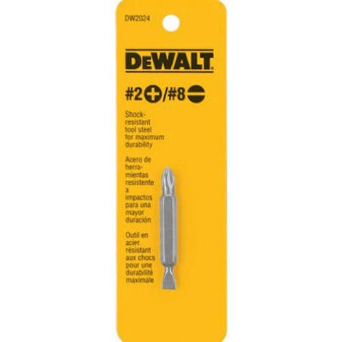 2 Double End Screw Bit (DEWALT DW2024 #2 Philips and #8 Slotted Double Ended Screwdriver Bit)
