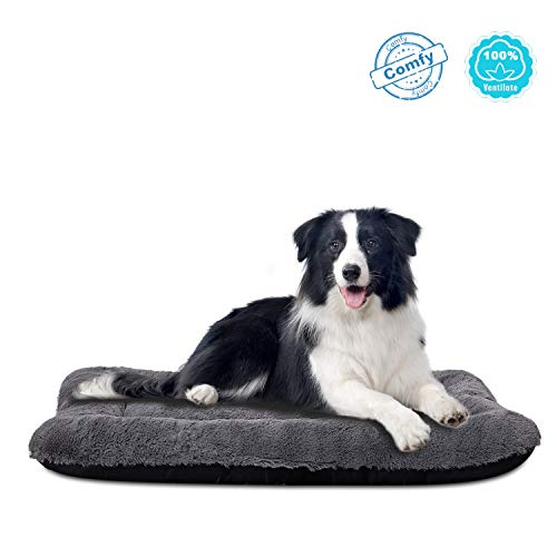 ANWA Dog Bed Large Size Dogs, Washable Dog Crate Bed Cushion, Dog Crate Pad Large Dogs 36 INCH (Dog Beds For Extra Large Crate)