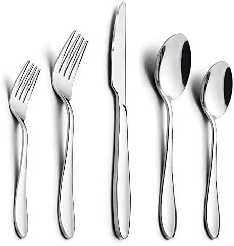 40 Piece Silverware HaWare Stainless Dishwasher product image