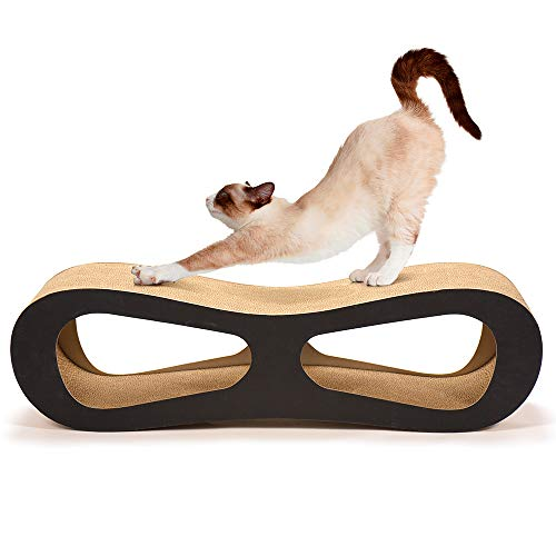 Cyttengo Cat Scratcher Durable Reversible Cat Scratch Pad Sturdy Eco-Friendly Design Maintain Healthy Cat Claws and Protect Furniture from Harm Catnip Included (Brown) Review