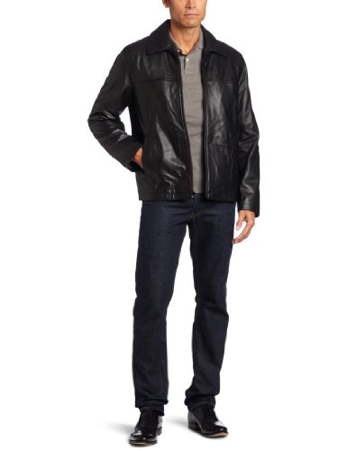Tommy Hilfiger Men's Classic Open Bottom Genuine Leather Jacket ...