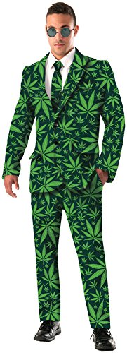 Forum Novelties Men's Joint Venture Suit Cannabis Costume, Green, X-Large]()