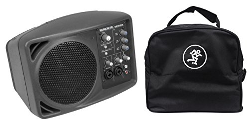 Mackie SRM150 Powered Active PA Monitor Speaker & SRM 150 Travel Bag