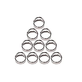 Bestwishes2u Bottle Opener Ring Lightweight Stainless Steel Pack of 10