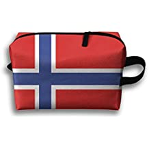 HTSS Norway Oslo Bergen Kingdom Stavanger Portable Toiletry Cosmetic Bag Waterproof Makeup Make Up Wash Organizer Zipper Storage Pouch Travel Kit Hand Bag