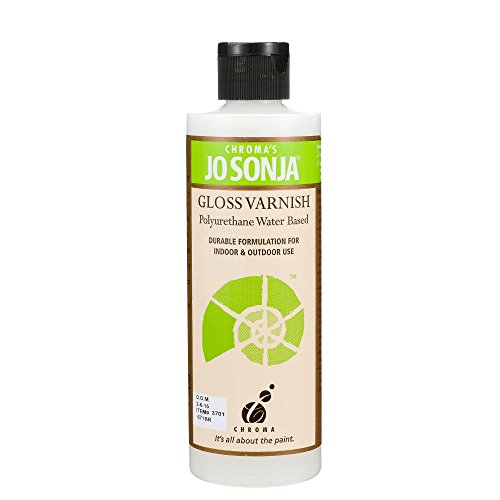 Jo Sonja's Polyurethane Varnish Gloss 8 oz Bottle