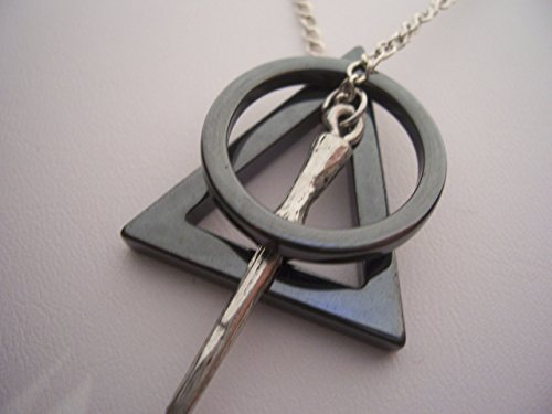 Harry Potter Deathly Hallows Necklace broken up - Horcruxes - wand
