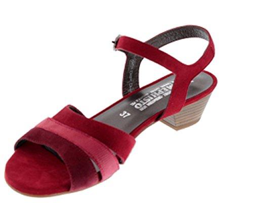 Mephisto, CARLOTA velcalf red, Femme, sandale Rouge