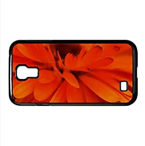 Orange Flower Focus Watercolor style Cover Samsung Galaxy S4 I9500 Case (Flowers Watercolor style Cover Samsung Galaxy S4 I9500 Case)