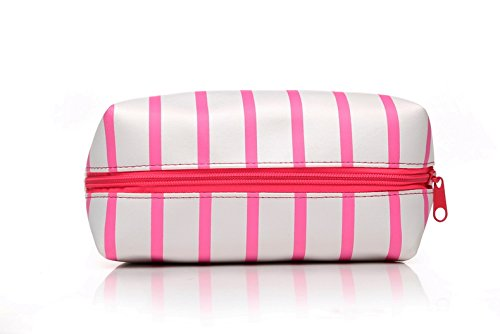 ddd787689137 HOYOFO Makeup Pouch Travel Cosmetic Bag Daily Essentials Storage Handbag,  Rose Red