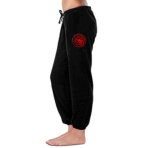 Women's Youth Girls Sweatpants-Game Of Thrones Dragon Logo Jogger Sweatpants L (Dragon Girl Game Of Thrones)