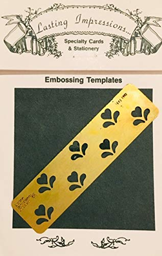 Heart Flower Brass Embossing Stencil 3.7 x 0.9 Inch by Lasting Impressions