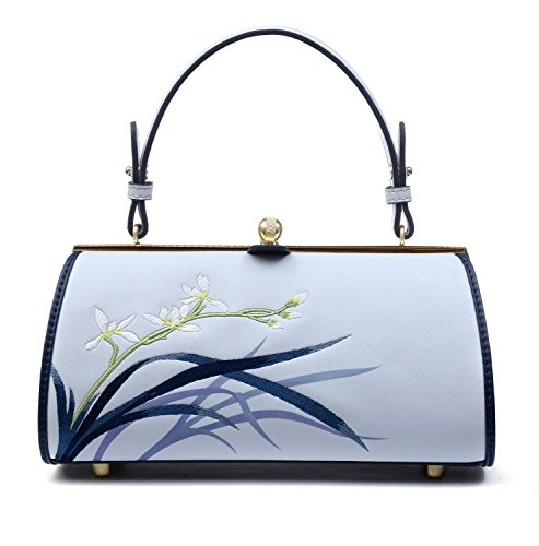 New Pmsix Chinese Style Qipao Female Women's Style 2018 Slanting Orchid Bag Embroidered Bag Antique Atmosphere Handbag Summer rqBr0