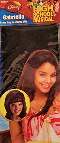 High School Musical Gabriella I Love Troy Headwrap wig]()