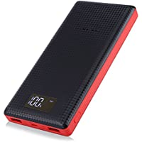 PINENG 10000mAh Charging Power Bank External Batteries Dual USB 2.1A 1.0A Power Charger Bank for Smartphone iPhone, Samsung Galaxy and More (Black 2000mAh)