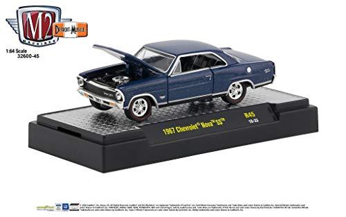 M2 Machines 1:64 Detroit Muscle Release 45 1967 Chevrolet Nova SS Blue