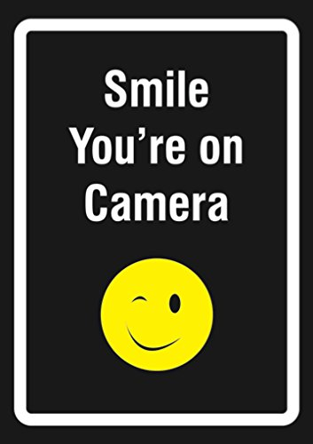 Cartel de Smile Youre On Camera - Señales de vigilancia de ...