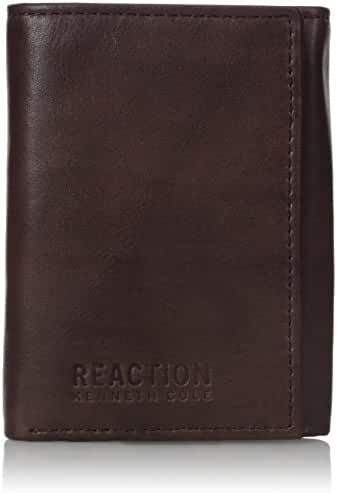 Kenneth Cole REACTION Men's RFID Blocking Crunch Trifold Wallet