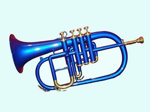Global Art World Solid Brass BB Pitch Flugelhorn 4 Valve Along With Mouth Piece MI 081 by Global Art World